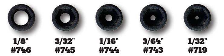 different aperture sizes for your archery equipment