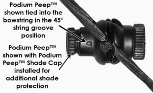 Podium Peep String Angle